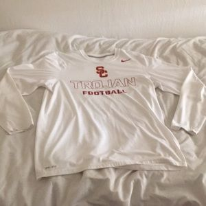 Nike USC Trojans Football DRI-FIT Long T-Shirt